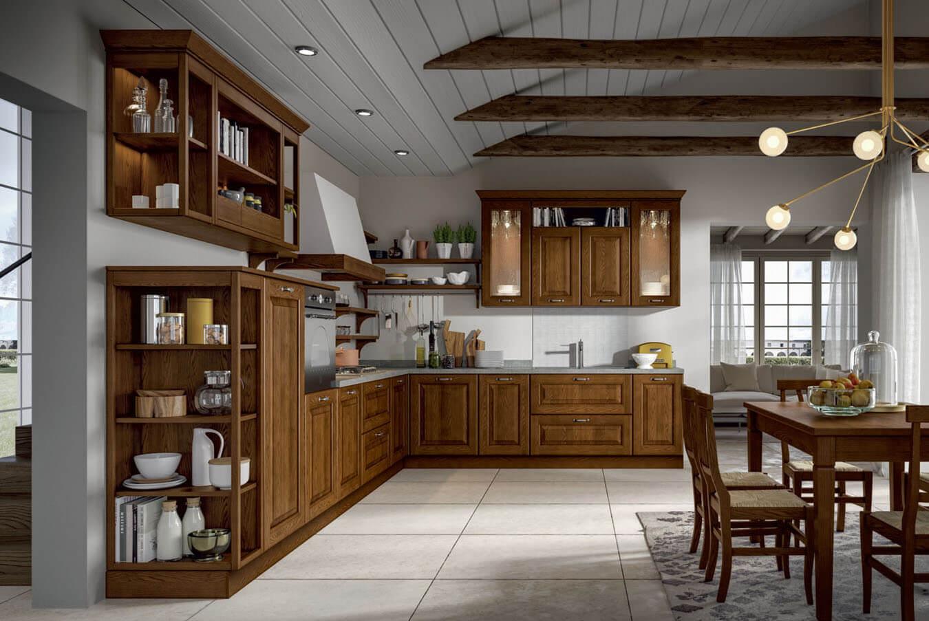 Κουζίνα σε κλασικό στιλ Έπιπλα Πατίστα